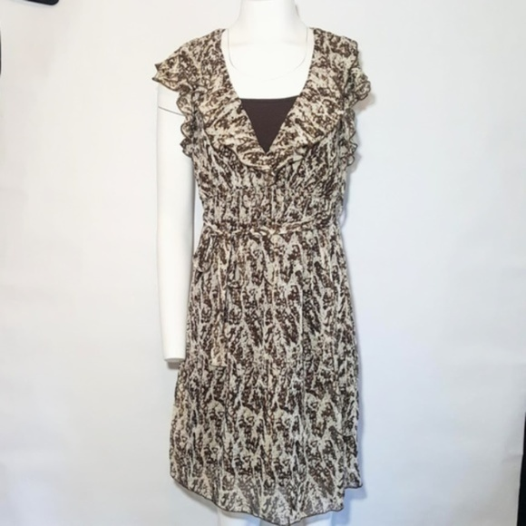 Lilly Lou Dresses & Skirts - Animal Print Dress with Belt